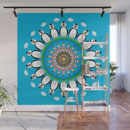 Puffin Point Mandala Design Wall Mural