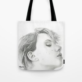 Drawing of Scarlett Johansson Tote Bag