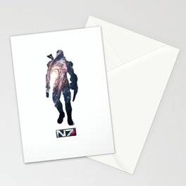 Mass effect Shepard Stationery Cards