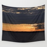 maryland Wall Tapestries featuring Ocean City, Maryland Series - Sunset by Sarah Shanely Photography