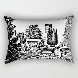 Duomo of Barga Rectangular Pillow