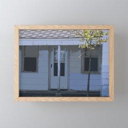 Little Blue House Framed Mini Art Print