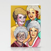 golden girls Stationery Cards featuring Golden Girls by Minerva Torres-Guzman