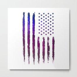 Gradient Grunge American flag Metal Print