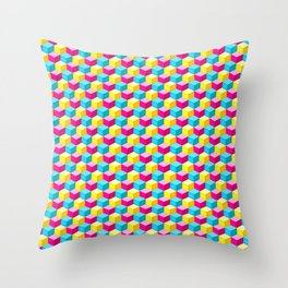 Candy Cube Joy Throw Pillow