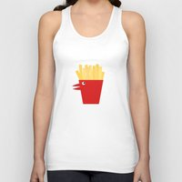 french fries Tank Tops featuring Chicken Tenders and French Fries by Dang-Nam