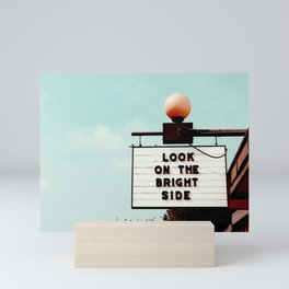 Look on The Bright Side Marquee Sign, Austin Motel, Austin, Texas Mini Art Print