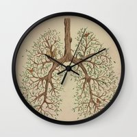 breathe Wall Clocks featuring Breathe! by Marchelord