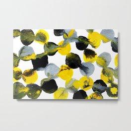Yellow and Gray Interactions Metal Print