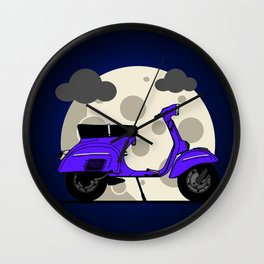 Scooter moon Wall Clock