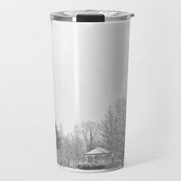 Winter in the park Travel Mug