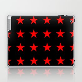 Red Stars on Black Laptop & iPad Skin