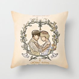 "Illustration from the video of the song by Wilder Adkins, ""When I'm Married"" Throw Pillow"
