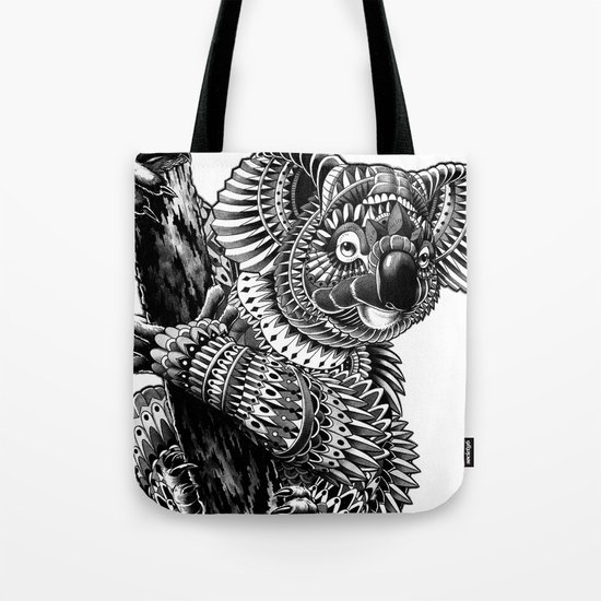 Ornate Koala Tote Bag