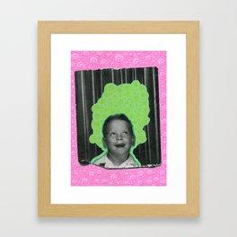 Listening The Bubbles Framed Art Print