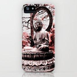 Scarlet Buddha in San Francisco, The Japanese Tea Garden, by Karen Images iPhone Case