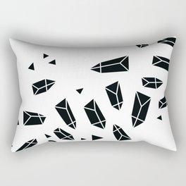 Black Crystals Rectangular Pillow