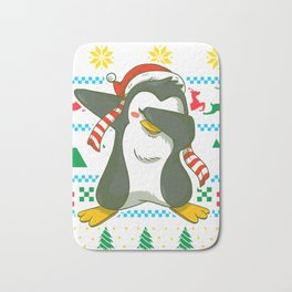Ugly Christmas Penguin Bath Mat