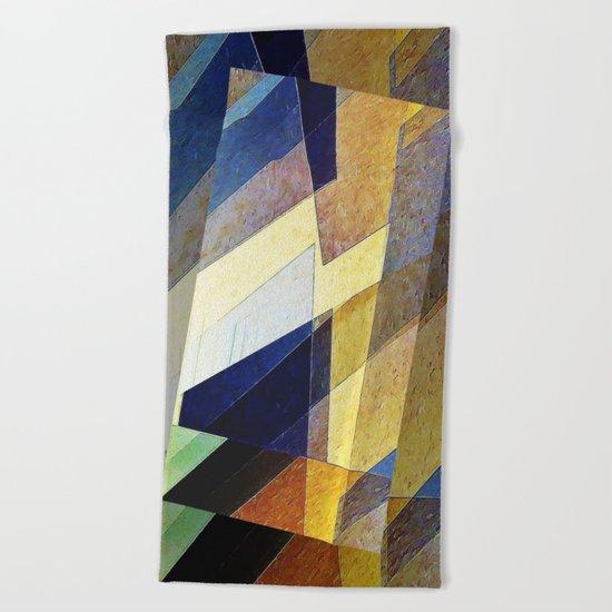 Marble Mosaic Beach Towel