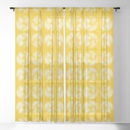 Barely There Yellow Brush Sheer Curtain