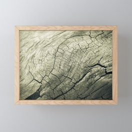 Elephant Wood of Smoothness Framed Mini Art Print