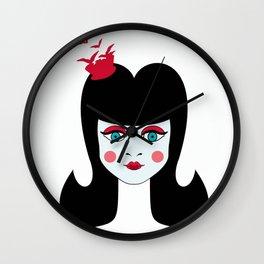cara de muñeca Wall Clock