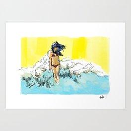 at the sea. Art Print