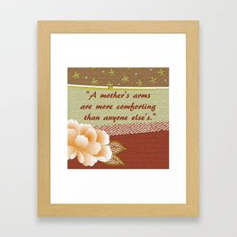 A Mother's Arms Framed Art Print