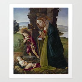 "Sandro Botticelli ""Adoration of Christ with Saint John"" Art Print"