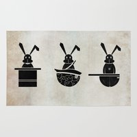 rabbits Area & Throw Rugs featuring rabbits by gazonula