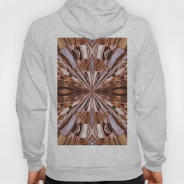 313 - Abstract Wood design Hoody
