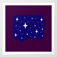 sayings Art Prints featuring Star Sayings by Mantha