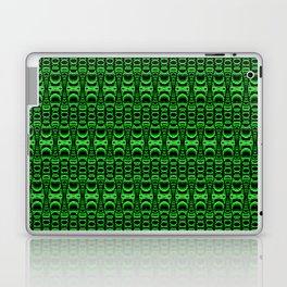 Dividers 07 in Green over Black Laptop & iPad Skin