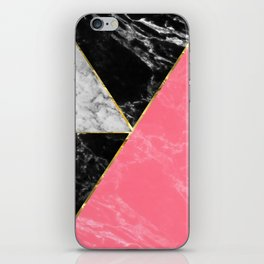 Marble color collection geometric abstract design iPhone Skin