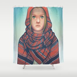 Not So Red Riding Hood Shower Curtain