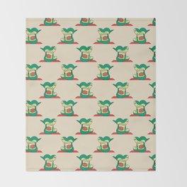 Acroyoga Avocado Throw Blanket