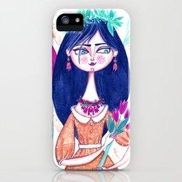Miss Tulip iPhone Case