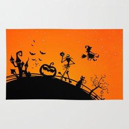 Halloween Jack Skellington Rug