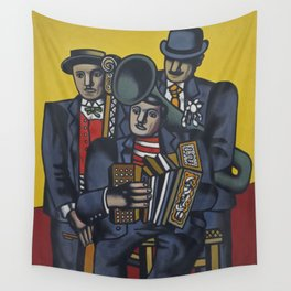 The Three Musicians by Fernand Léger Wall Tapestry