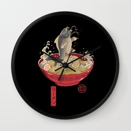 Fish Ramen Wall Clock