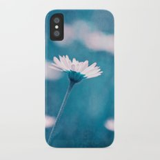 love in blue Slim Case iPhone X