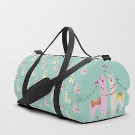 Llama Pattern Duffle Bag