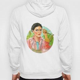 Frida Kahlo. Portrait with brush Hoody