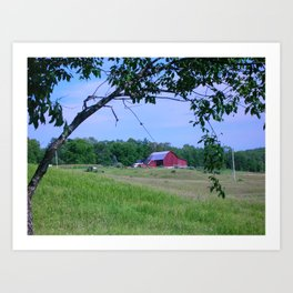 Red Barn / Michigan Farm Art Print