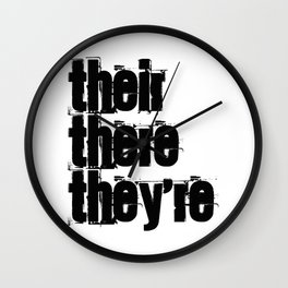 Their There They're Wall Clock
