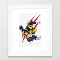 avenger Framed Art Prints featuring Clawed Avenger  by Pink & Nanook