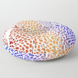 Cheetahs color background with heads Floor Pillow