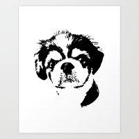 Japanese chin print Art Print