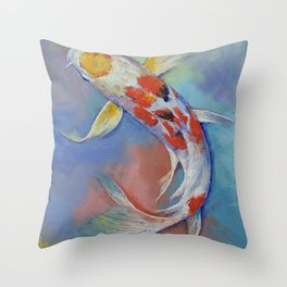 Butterfly Koi Fish Throw Pillow