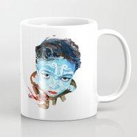 hindu Mugs featuring Hindu Boy by Cristian Blanxer